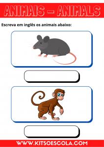 ANIMAIS - INGLÊS